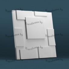 """Гибкая полиуретановая форма для изготовления 3D панелей """"Квадраты"""""""