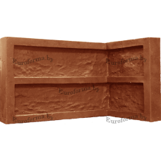 """Гибкая полиуретановая форма  для изготовления угловых элементов декоративного камня """"Манхеттен""""."""