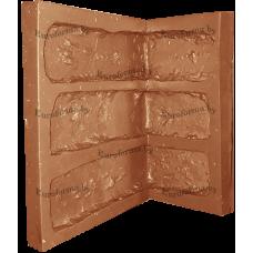 """Гибкая полиуретановая форма  для изготовления угловых элементов декоративного камня """"Кирпич Венеция""""."""