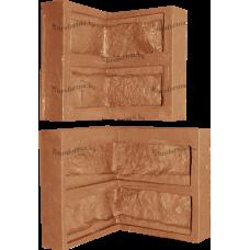 """Гибкая полиуретановая форма  для изготовления угловых элементов декоративного камня """"Градский паб""""."""