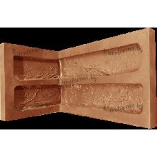 """Гибкая полиуретановая форма  для изготовления угловых элементов декоративного камня """"Кирпич древний""""."""