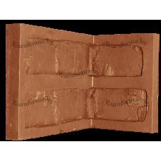 """Гибкая полиуретановая форма  для изготовления угловых элементов декоративного камня """"Кирпич средневековый""""."""