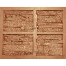 """Гибкая полиуретановая форма  для изготовления угловых элементов декоративного камня """"Петра разборный""""."""