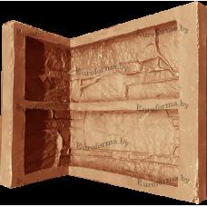 """Гибкая полиуретановая форма  для изготовления угловых элементов декоративного камня """"Сланец египетский""""."""