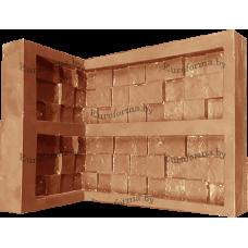 """Гибкая полиуретановая форма  для изготовления угловых элементов декоративного камня """"Травертин 3D""""."""
